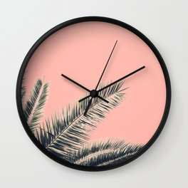 Retro Style Palm Tree Wall Clock