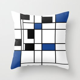 Indigo , abstract , geometric Throw Pillow