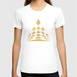 CHECKERBOARD ABSTRACT PYRAMID sacred geometry T-shirt