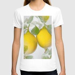 Yellow Citrons on Gray Background in Illuminating & Ultimate Gray Palette #decor #society6 #buyart T-shirt