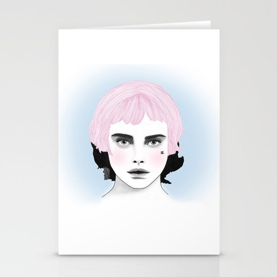 Fashion Illustration - Chanel Pink Stationery Cards