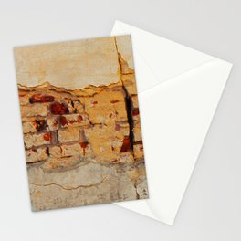 Stone wall Abstrackt hole Stationery Cards