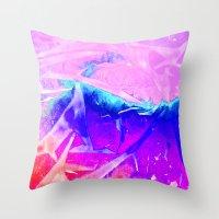 Aurora 3 - Ultraviolet Throw Pillow