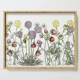 Medley of garden flowers Serving Tray