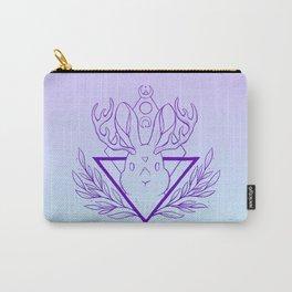 Lunar Rabbit / Jackalope // Purple Carry-All Pouch