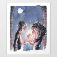 Glow [Dramione] Art Print