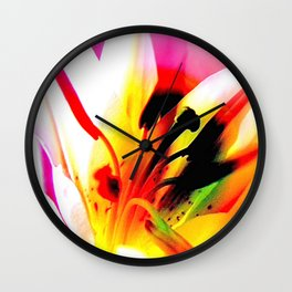 Abstract Of The Lily Wall Clock