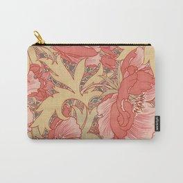 William Morris Poppies Floral Art Nouveau Pattern Carry-All Pouch