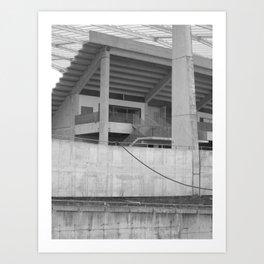 katowice stadion, texture photography, architecture Art Print