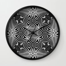 Black & White Tribal Symmetry Wall Clock
