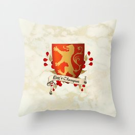 King's Champion - Lioness Shield Throw Pillow