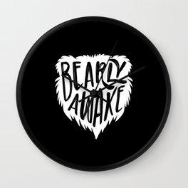 Bearly Awake Sleepyhead Bear Wall Clock