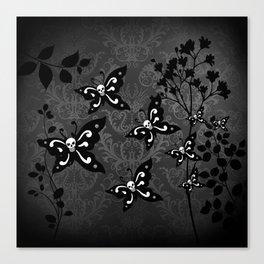 Skullerflies in the garden - dark scale Canvas Print
