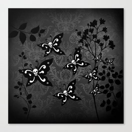 Skullerflies in the garden - dark scale Canvas Print