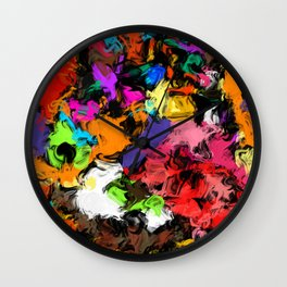 Artistic Messy Abstract Wall Clock