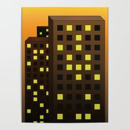 Urban Buildings Poster