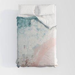 Ocean Pink Swirl Comforters