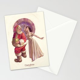 Kissing Santa Claus Stationery Cards