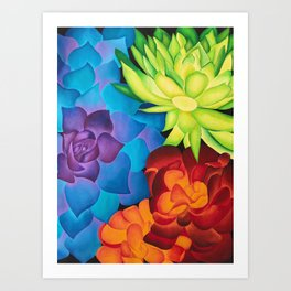 Cactus Color Theory Art Print