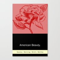 american beauty Canvas Prints featuring American Beauty  by Eric Drummond Smith