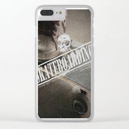Skateboarding Clear iPhone Case