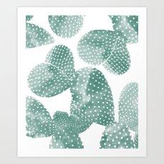 Cactus Dots Art Print