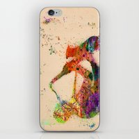 saxophone iPhone & iPod Skins featuring music saxophone by mark ashkenazi