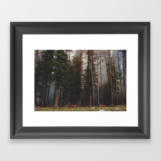 Oregon Forest Control Fire Framed Art Print