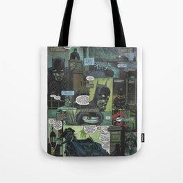 Bruce Wayne Comic Collage Tote Bag