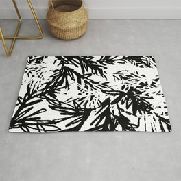 naturally, black and white/ part I Rug