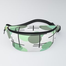 Atomic Age Molecules 5 Mint Green Sage Fanny Pack