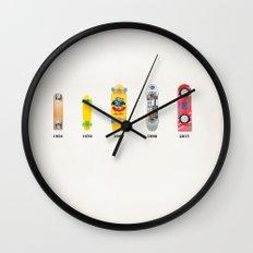 Evolution of skate deck Wall Clock