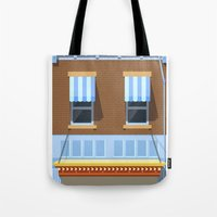 movies Tote Bags featuring Day at the Movies by Chris Redford