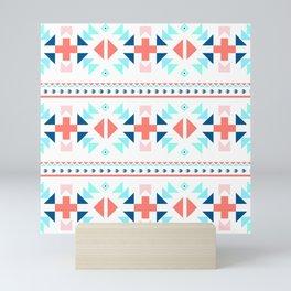 geometry navajo pattern Mini Art Print