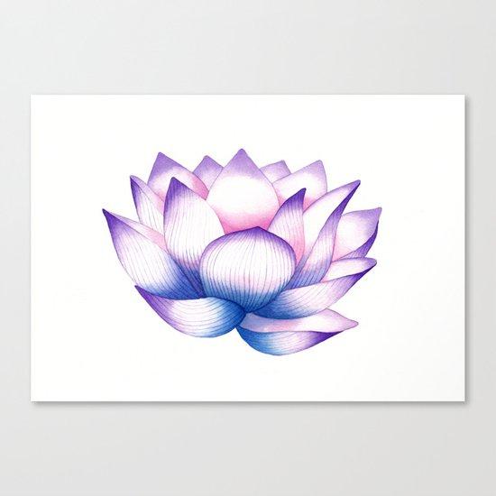 Watercolour Lotus Canvas Print