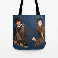 outlander Tote Bags featuring Sing me a song by Theanimatedlife