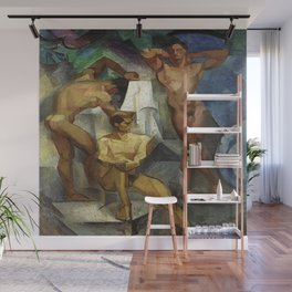Young Bathers by George Pauli Nude Male Art Wall Mural