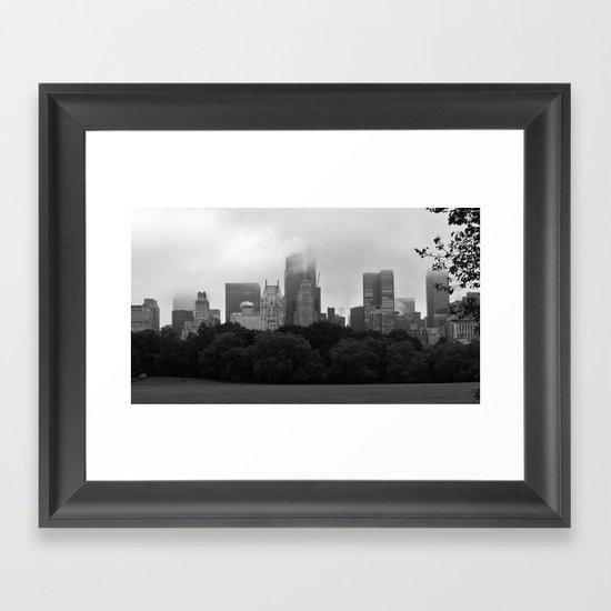 fog in city... Framed Art Print