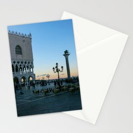 Sunset on piazzetta San Marco Venice Stationery Cards
