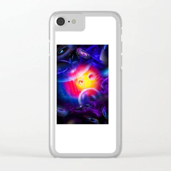 Abstract Perfection - Space Clear iPhone Case