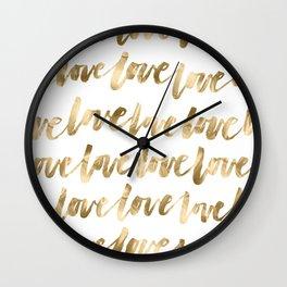 Gold Love Wall Clock