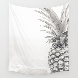 Pineapple, B&W, Fruit, Tropical, Summer, Black and White, Sweet, Neutral, Botanical, Pineapple Lover Wall Tapestry