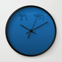 duck Wall Clocks featuring Duck by rob art | simple