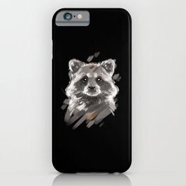 Raccoon Lover Portrait iPhone Case