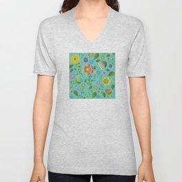 Petty Floral Pattern 3 Unisex V-Neck
