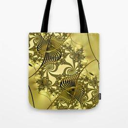 Golden Entanglement Tote Bag