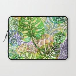 Monstera Pineapple Sky River Reflection Spring Summer Laptop Sleeve
