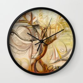Axis Mundi V Wall Clock