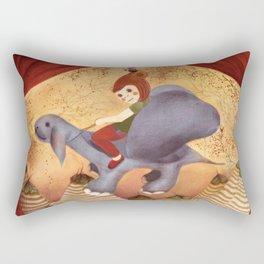 birdgirl and dino Rectangular Pillow