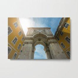 Arco da Rua Augusta in Lisbon, Portugal Metal Print